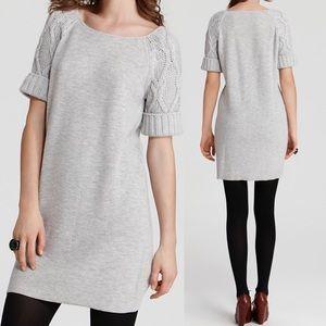 MBMJ Gray Viva Cable Knit Sweater Dress